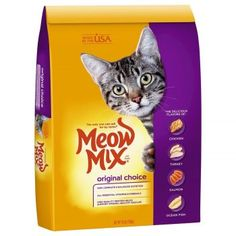 Meow Mix Original Choice Dry Cat Food, 16 lb Contains 1 - 16 lb bag Complete and balanced nutrition Provides all essential vitamins and minerals High quality protein to help support strong, healthy muscles. Best Cat Food, Dry Cat Food, Pet Food, Starbucks, Cat Food Brands, Cat Food Coupons, Cat Nutrition, Nutrition Guide, Protein Nutrition