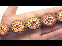 Rainbow Loom HEXAPOP Bracelet. Designed and loomed by Mario at OfficiallyLoomed. Click photo for YouTube tutorial. 03/04/14.