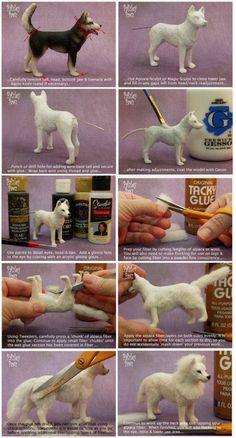 hond/dog - autumnwallpaper - FILZen - Home Lilla Polymer Clay Animals, Polymer Clay Crafts, Felt Crafts, Needle Felted Animals, Felt Animals, Needle Felting Tutorials, Miniature Crafts, Miniature Dogs, Felt Dogs