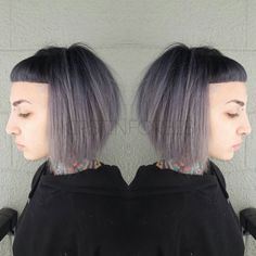"""@little_pingping looking extra amazing with her black to grey to silver ombre!  Black: @redken5thave  Dark Grey: @pravana Silver + Black Grey: @pravana…"""