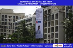 Outdoor Media Banners Through Billboards for Banks At Worli - Global Advertisers