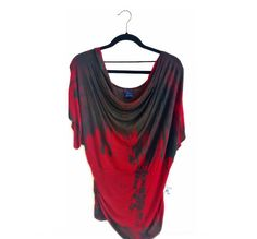 One-of-a-kind hand dyed rayon top. Casual/formal and affordable.