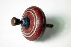 Wooden spinning top made in England or Germany between 1825 and 1875