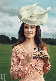 Pippa Middleton wearing a Philip Treacy hat.