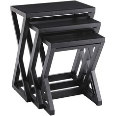Nesting instincts, <i>activate!</i> Each of our three durable Zano Nesting Tables is designed with a slim profile so it can scoot cozy-close to chairs yet still provide plenty of surface space for books, laptops, dinner or drinks. When not in use, the trio returns to the nest for space-saving storage or use as a single accent table.
