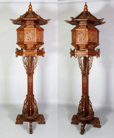 Chinese Monumental Pair of Qing Huanghuali Lanterns. : Lot 4175