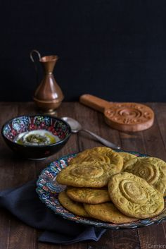 Kaak Asfar - Pan palestino amarillo - No quieres caldo? ... Pues toma 2 tazas.