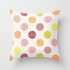 Spots. Throw Pillow by Tayler Willcox - $20.00