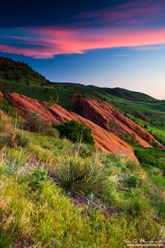 """Colors of a Colorado spring sunrise...in the foothills with the """"red rocks"""" (eastern slope)"""