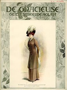 De Gracieuse July 1909, Edwardian Fashion Plate