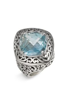 Lois Hill 'Sky Blue Topaz' Square Statement Ring available at Nordstrom