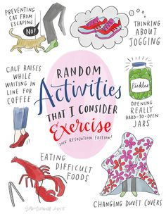 Sneaky exercise (Illustration by Emily McDowell)