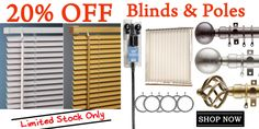 Blinds and Poles 20 Off, Discount Curtains, Curtains With Blinds, Shop Now