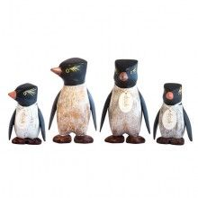 Painted Rock Hopper Penguins