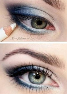 Smokey Blue Eye Make Up...........