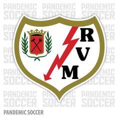 Rayo Vallecano Spain Vinyl Sticker Decal Soccer E Bay, Adhesive Vinyl, Decals, Soccer, Stickers, Premier League, Spain, Color Print, Design