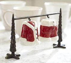 Santa Suit Salt & Pepper Shakers #potterybarn