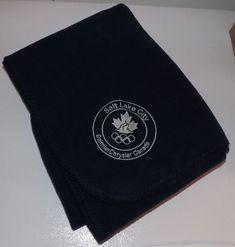 "Salt Lake City 2002 Olympics Daimler Chrysler Canada Blanket/Throw. 60"" X 60"" #DaimlerChrysler"