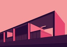 Colorful Architectural Illustrations by Henrique Folster | Inspiration Grid | Design Inspiration