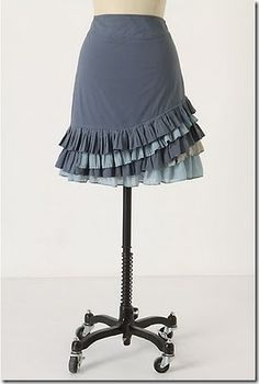 #free #sewing #pattern #anthropologie - inspired #ruffle #skirt