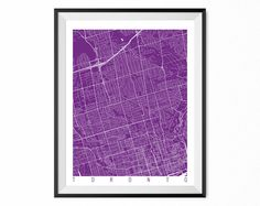 TORONTO Map Art Print / Ontario Poster / Toronto Wall Art Decor / Choose Size and Color