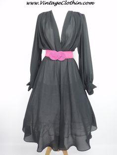 1980s does 1950s Chez Maurice Sheer Black Rockabilly Dress, LBD,   http://shop.vintageclothin.com/1980s-does-1950s-Chez-Maurice-Sheer-Black-Rockabilly-Dress-1980-VC1235.htm  #1980sdress #vintagedress #1950sdress  #1980 #1980s #1950 #1950s  #Dress #vintagedress #vintageclothes #vintageshop #vintagestore #vintageclothing #vintageclothin #vintagewear #vintage #vintageclothin.com #retroclothes #retroclothing #vintagefashion #forsale #buyme  #vintageseller #rockabilly #pinup #Black #ChezMaurice
