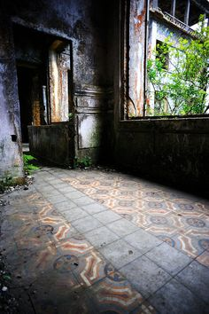 The French ghost town of Bokor Hill Station, Cambodia. http://en.wikipedia.org/wiki/Bokor_Hill_Station