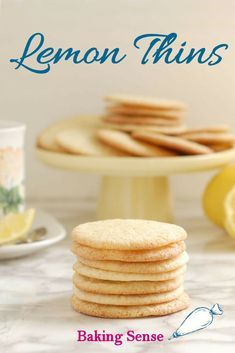 Crisp Lemon Thin Cookies – Baking Sense This is a lovely and simple little cookie. As the name suggests, Lemon Thin Cookies are crisp, thin and lightly lemony. They are the perfect tea-time or snack-time treat. Lemon Dessert Recipes, Easy Cookie Recipes, Lemon Recipes, Cookie Desserts, Gourmet Recipes, Baking Recipes, Sweet Recipes, Delicious Desserts, Thin Cookie Recipe