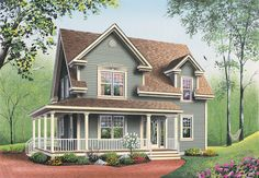 Farmhouse Plans | Marion Heights Farmhouse Plan 032D-0552 | House Plans and More