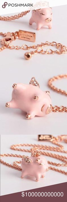 Kate Spade Imagination 🐷 Pig Pendant 100% Authentic ☑ Brand New without tag; never used.  No box. No dustbag.  MSRP over $84 including tax.  Price Firm. No lowball, No trade!! kate spade Jewelry Necklaces