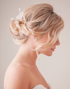 Wedding up-do hairstyle idea.