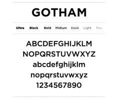 GOTHAM font - Google 検索