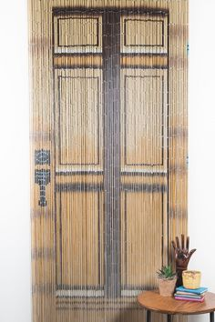High Quality Hanging Bamboo Curtain Looks Like A Real Door And Can Be Hung On Wall Or  Entryway