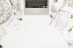 Workspace with laptop by Floral Deco on @creativemarket