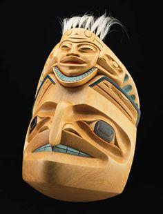 Northern Hawk Mask by Dempsey Bob, Tahltan, Tlingit artist (X30704)