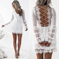Exceptional boho dresses are available on our internet site. look at this and you wont be sorry you did. Grad Dresses, Sexy Dresses, Short Dresses, Formal Dresses, High School Graduation Dresses, Bohemian Dresses Short, Lace Homecoming Dresses, Gypsy Dresses, Flower Dresses