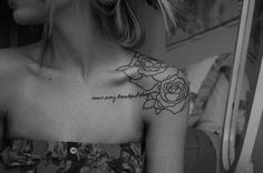 roses and words tattoo for girl 48