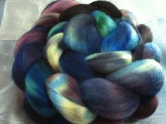 Hand Dyed Merino Wool Roving Combed Top Spinning Fiber  -  4oz - 19MM044. $17.00, via Etsy.