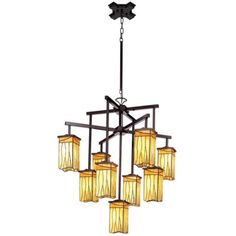 #bldgproductoftheday Sedona Collection 9-Light Shaded Chandelier; it's so unique, yet classic, and I love the little shades. Would suit a lot of styles, but I'd like to see it mixed in a room that has some Asian influence. :)