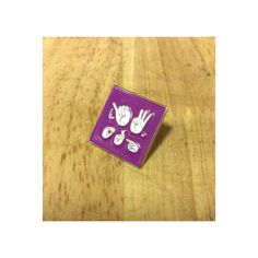 """Now available in 3/4"""" purple square ASL jw.org lapel pins find these and many more at www.jwstuff.org #jworg#jwstufforg"""