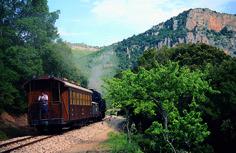 The little Green Train passes through the mountains of Ussassai #Ogliastra #Sardinia #Italy