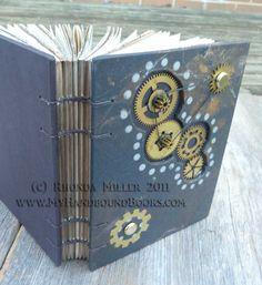 My Handbound Books - Bookbinding Blog: Journals with Steampunk Attitude