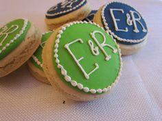 Monogrammed Cookies by AmandasCookies on Etsy