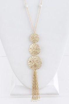 Long Sand Dollar Necklace