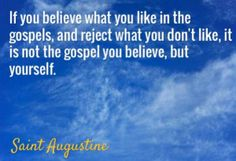 saint augustine- you believe in yourself