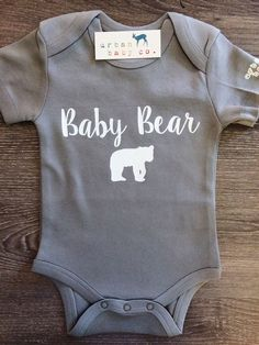 Baby Bear Baby, Boy, Girl, Unisex, Gender Neutral, Infant, Toddler, Newborn, Organic, Bodysuit, Outfit, One Piece, Onesie®, Onsie®, Tee, Layette, Onezie®