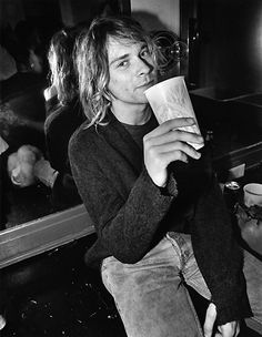 "Soulcatcher Studio: Charles Peterson | Charles Peterson ""Kurt Cobain, Backstage, Moore Theatre, Seattle, 1991"""