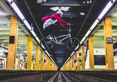 Nigel Sylvester subway jump