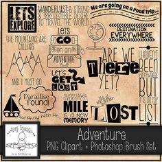 50% OFFAdventure Word Art PNG Clip Art Photoshop Brush