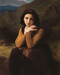 Mignon by William-Adolphe Bouguereau of France. (painting)